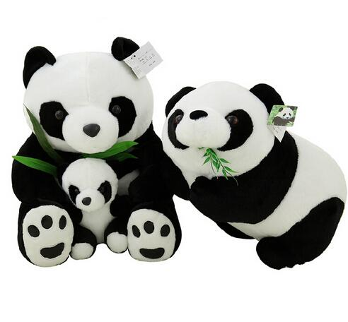 1pcs 22cm Sitting Mother and Baby Panda Plush Toys Stuffed Panda Dolls SOFT Pillows kids toys& Good Quality image