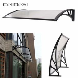 CellDeal Easy Fit Front Door Canopy Awning Ack Porch Outdoor Roof Patio Cover Rain Shelter Front Hk Protects from Sun Rain