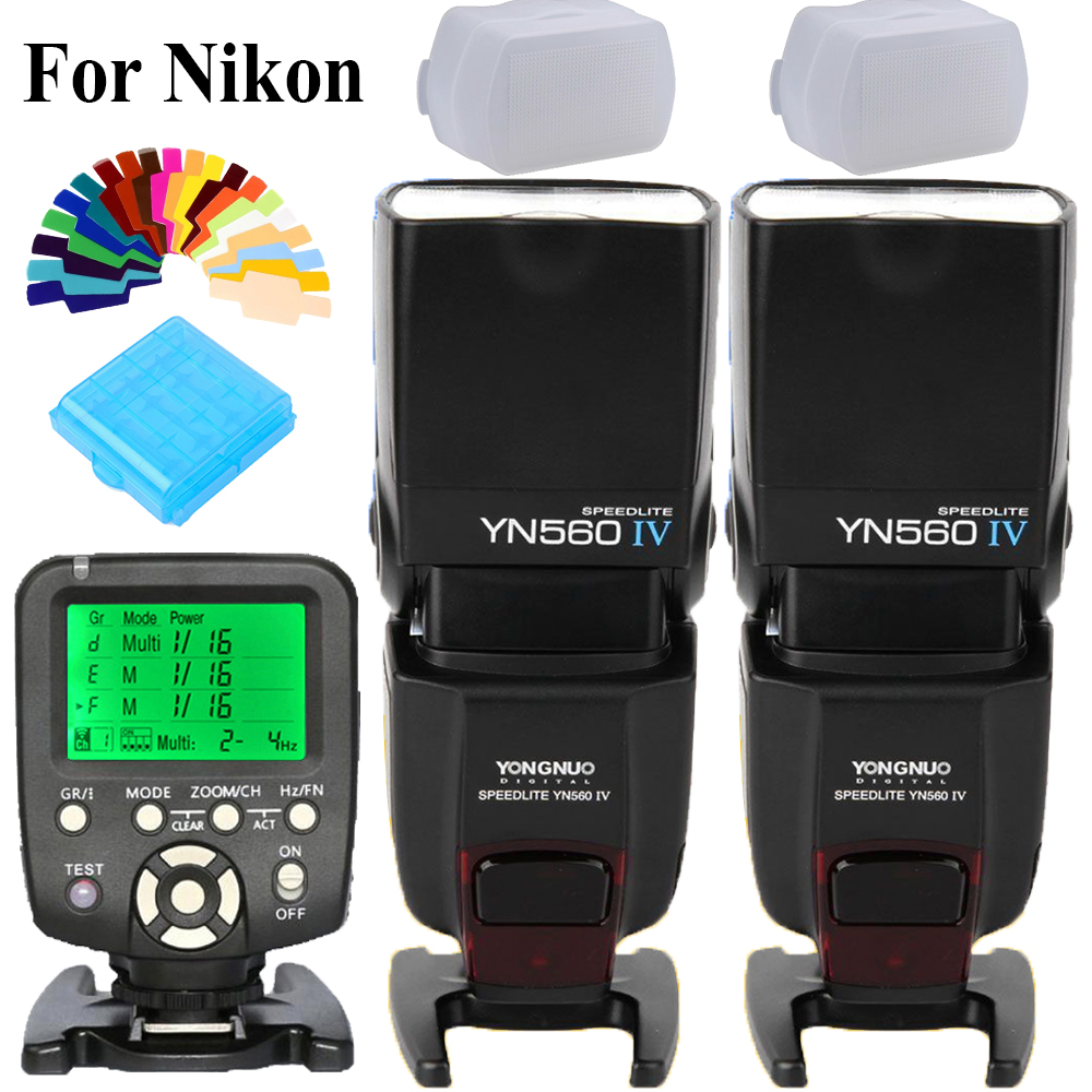 Yongnuo YN-560 IV YN560IV 2.4G Wireless Flash Speedlite FlashLight X2 + YN560-TX YN560TX Flash Trigger For Nikon DSLR Cameras цены