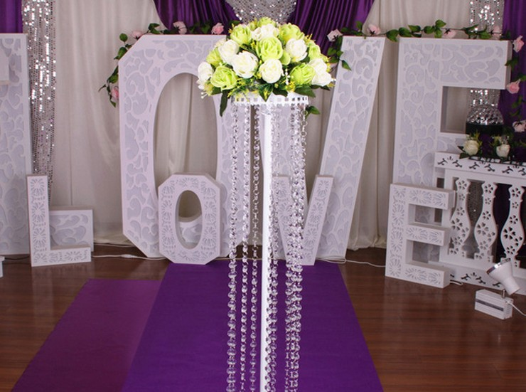 150cm Fashion Luxury Acrylic Crystal Wedding Road Lead Centerpiece Event Party Decoration Backdrop T Stand In DIY Decorations From