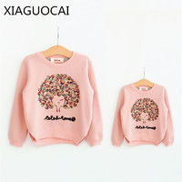 Dream Xia Family Matching Outfits Mother And Daughter Weater Spring And Autumn Sweater Coat Round Neck