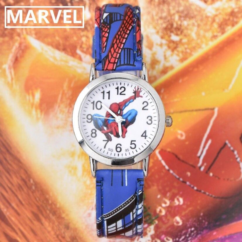 Disney Marvel Hot Sale SpiderMan Watch New Cute Cartoon Watch Kids Watches Quartz Watch Gift Children Hour Reloj Montre Relogio