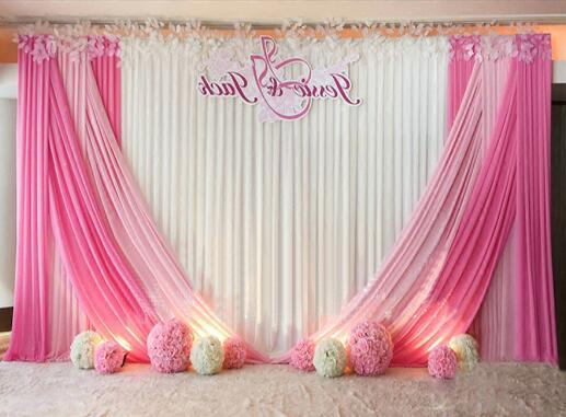 Rideau de mariage 2018 nouveaux rideaux de toile de fond de mariage pour la décoration de cérémonie de mariage 10ft * 20ft-in Partie Décors from Maison & Animalerie    1