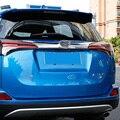 ABS Cromado Cubierta de la Tapa Posterior Del Tronco Trim Cola Externa Tira Decorativa la cola de La Puerta Pegatinas En Forma Para Toyota RAV4 RAV 4 2016 2017