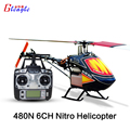 Gleagle 480N18-DFC450L 6 Channel RC GAS Fuel helicopter RTF/RTF gasolin Nitro helicopter aircraft Aerial 3D Stunts