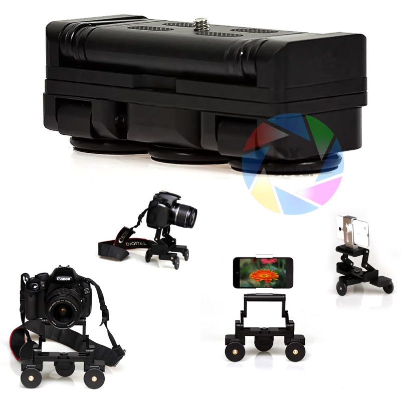 Easy Storage Mini Camera Video Car Photograph Rail Rolling Track Slider Skater Table Dolly Flexible For Gopro Sjcam Canon Camera new 4 wheels mobile rolling sliding dolly stabilizer skater slider motorized push cart tractor for gopro 5 4 3 3 2 1 camera