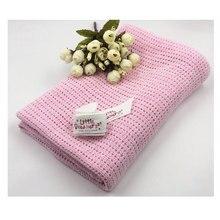 75*100cm Baby Knitted Blanket Cotton Soft Kids Month Blankets Newborn Swaddle Infant Wrap Bath Towel Girl Boy Stroller Swaddling недорого