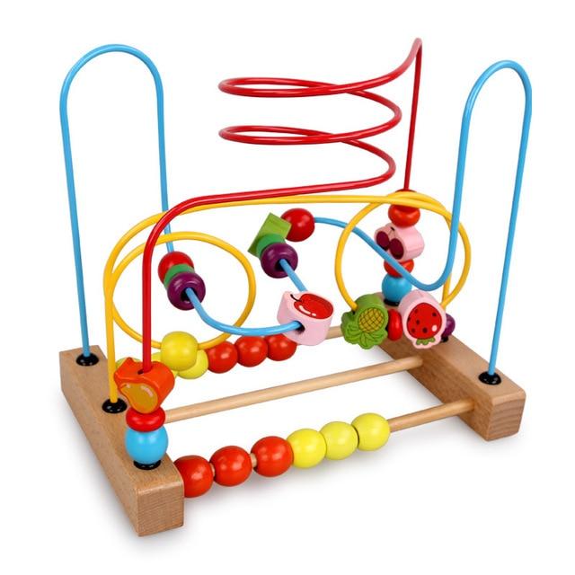 Baby Bead Maze Roller Roaster Fine Motor Skills Training Toys Made