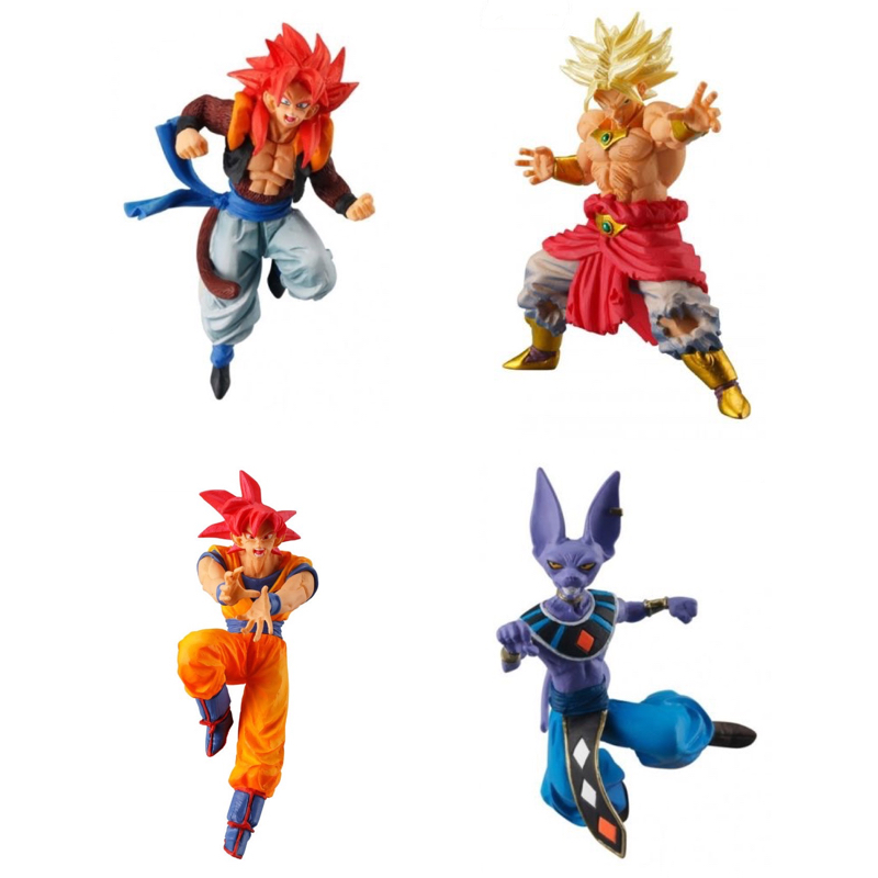 DragonBall Super Battle Figure Series VS Versus Part 02 Gashapon Toys ~ Gogeta SS4,Burori SS,Son Goku SSG,Beerus ~100%Original new arrival weijiang m03 battle blades battle hornet mp21 transformation metal alloy part figure toys