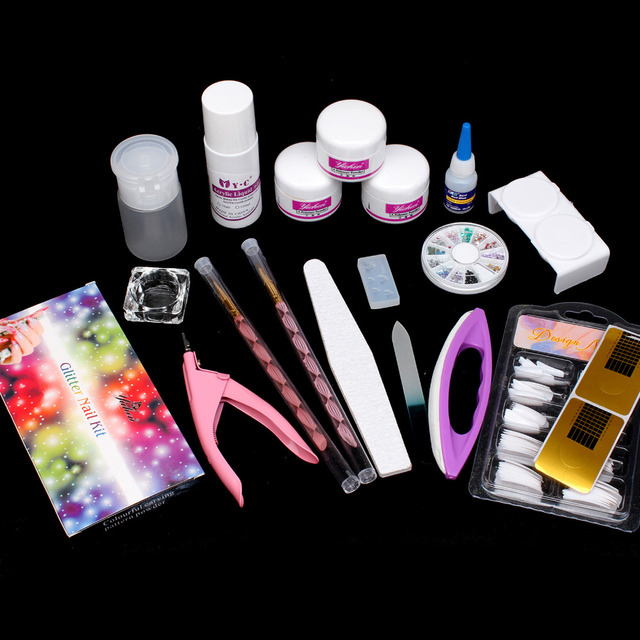 Pro UV GEL Nail Art Kit Cutter Sanding Buffer French Nail Art tools ...
