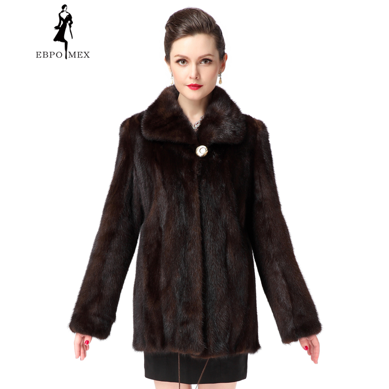Popular Mink Coat Brown-Buy Cheap Mink Coat Brown lots from China ...