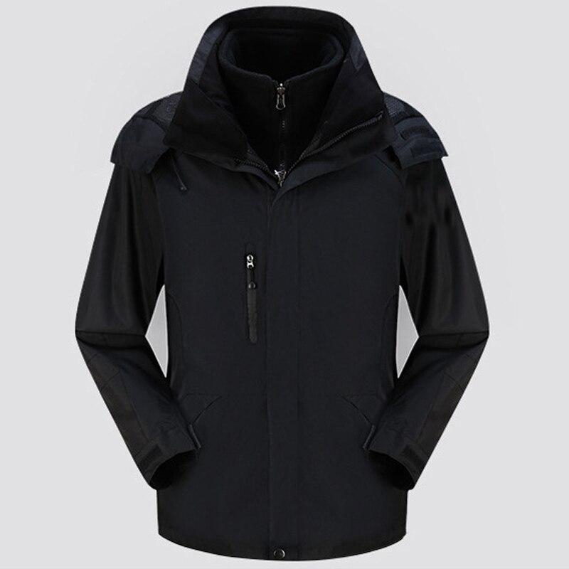 Homme veste hiver chasse coupe-vent Ski manteau randonnée pluie Camping pêche vêtements Sport Camouflage veste hommes manteau 2 en 1