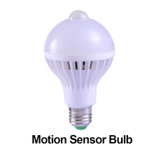 LED Bulb E27 Motion Sensor Led Sound Voice Control Lamp