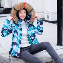 Winter Jacket Women Korean Woman Down Parkas Jackets Winter Coat Women Cotton Fur Hooded Coat Jacket Plus Size Woman Parka Coats цена