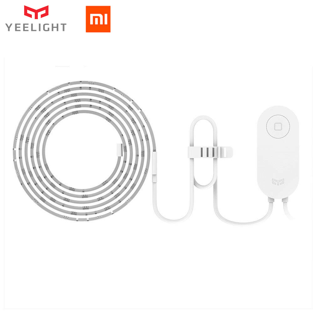 Yeelight RGB светодиодный 2 м умный свет полосы умный дом для Mi Home приложение WiFi работает с Alexa Google домашний помощник 16 миллионов красочных