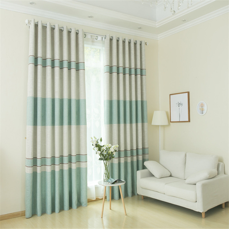 Luxury Striped Curtain Design Living Room Bedroom Modern Blackout Curtains For Window Blinds