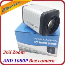 HD 2.0MP AHD 1080P Box camera 36X Zoom 3-90mm lens 2 IN 1 960P Box Cameras WDR Auto IRIS DSP Zoom RJ485 Camera For AHD DVR CCTV