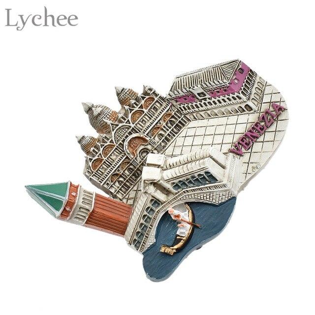 Lychee 1pc Venice Fridge Magnet 3D Refrigerator Magnets Travel Souvenir DIY Handmade Home Decoration 3