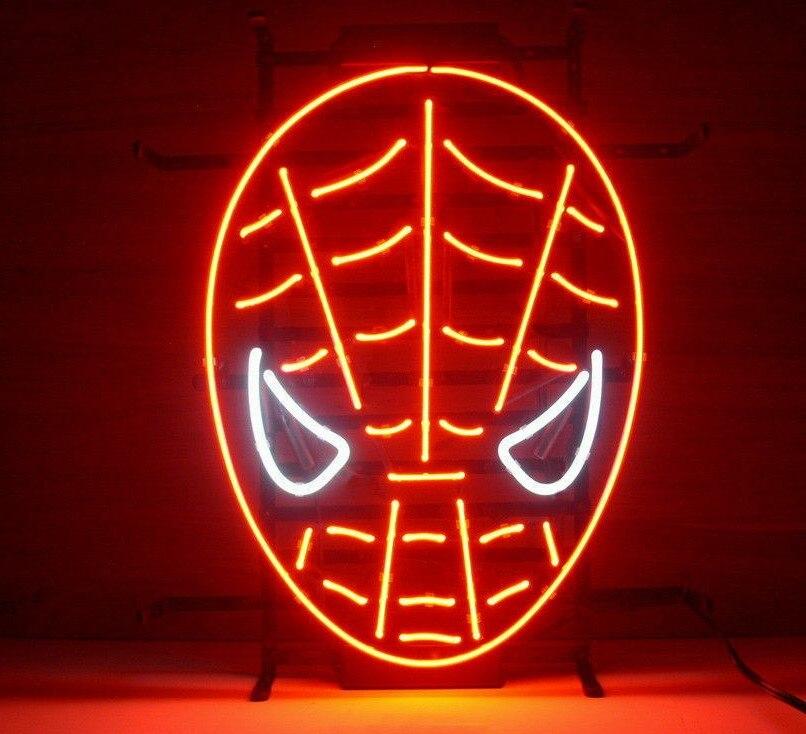 Personnalisé Spiderman Marvel Comics Verre Néon Lumière Signe de Barre De Bière