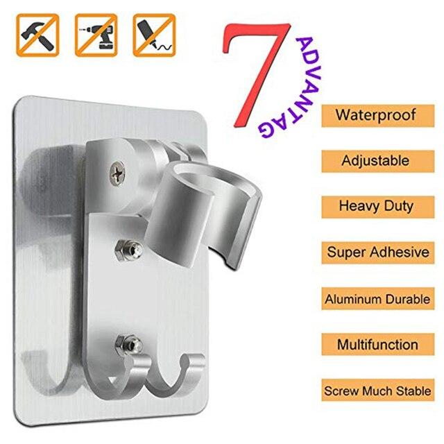 2 sztuk regulowana słuchawka prysznicowa uchwyt do stojaka przyssawka do montażu na ścianie wymiana prysznic uchwyt na akcesoria łazienkowe