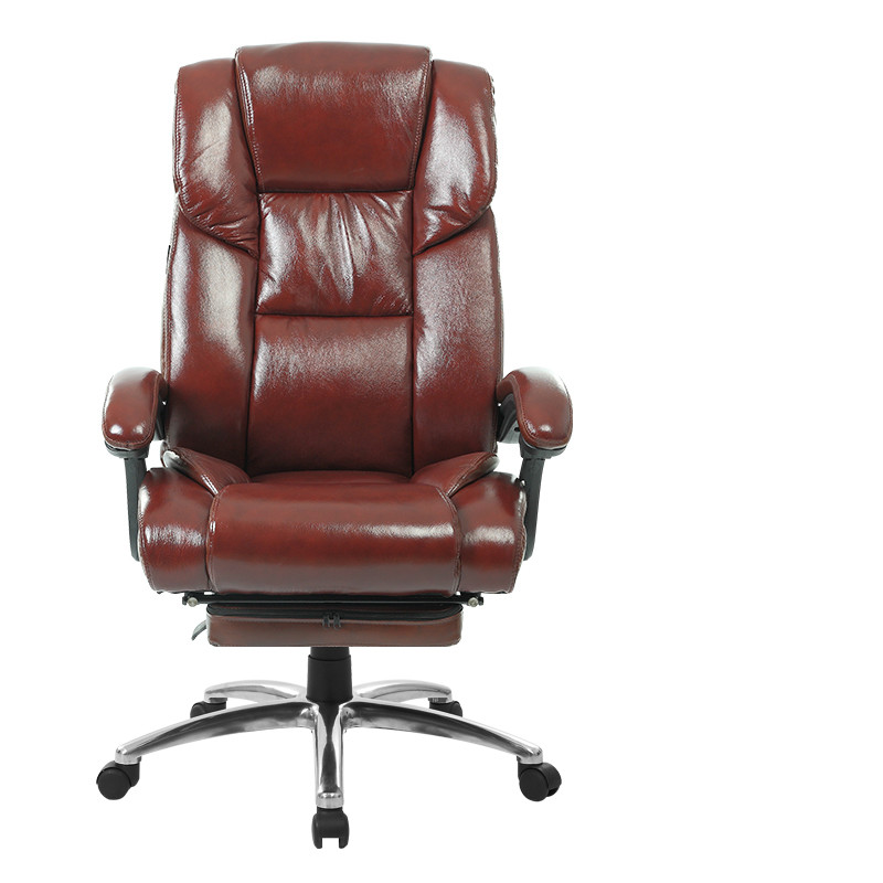 Cowhide Massage Office Chair Household Leather Computer Boss Chair Swivel Lifting Gaming Chair Reclining Silla Oficina