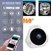 VR panoramisch ip camera wifi draadloze voor smart telefoon ondersteuning sd-geheugenkaart audio speaker v380