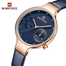 Naviforce topo de luxo marca nova moda feminina relógios quartzo senhoras strass relógio vestido relógio de pulso feminino casual simples relógio