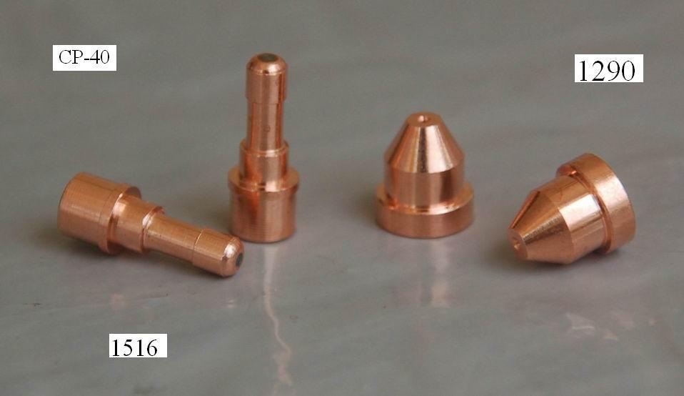 ФОТО Plasma Cutter Soldering Iron Tip C1516 Plasma Electrode Hf & C1290 Nozzle Tip Fit Cebora Cp40 Torch,23PK