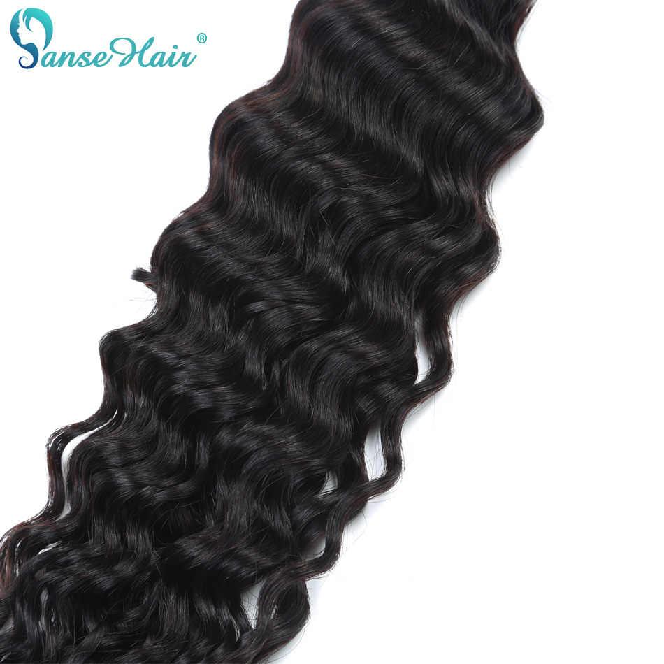 Cabello rizado indio de la onda profunda del pelo del Panse que 100% la extensión del pelo humano 3 mechones por lote 100 g 1B mechones del pelo