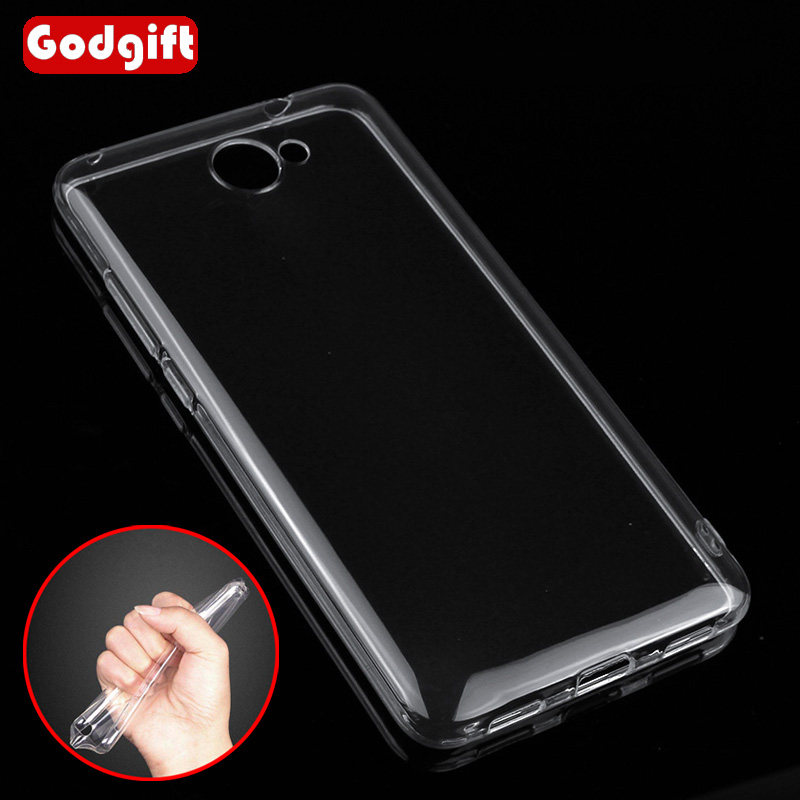 GodGift για Huawei Y7 Case Silicone Cover Luxury Shockproof Soft Case For Huawei Y7 2017 Case Transparent Huawei Y 7 2017 Cover
