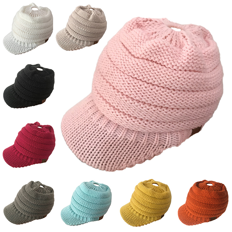 Winter Caps CC Ponytail Beanie Women Hat Skullies Beanies Female Knit Warm  Caps Stylish Hats For Ladies Fashion Girl Knitted Cap 45fbdb4e7145