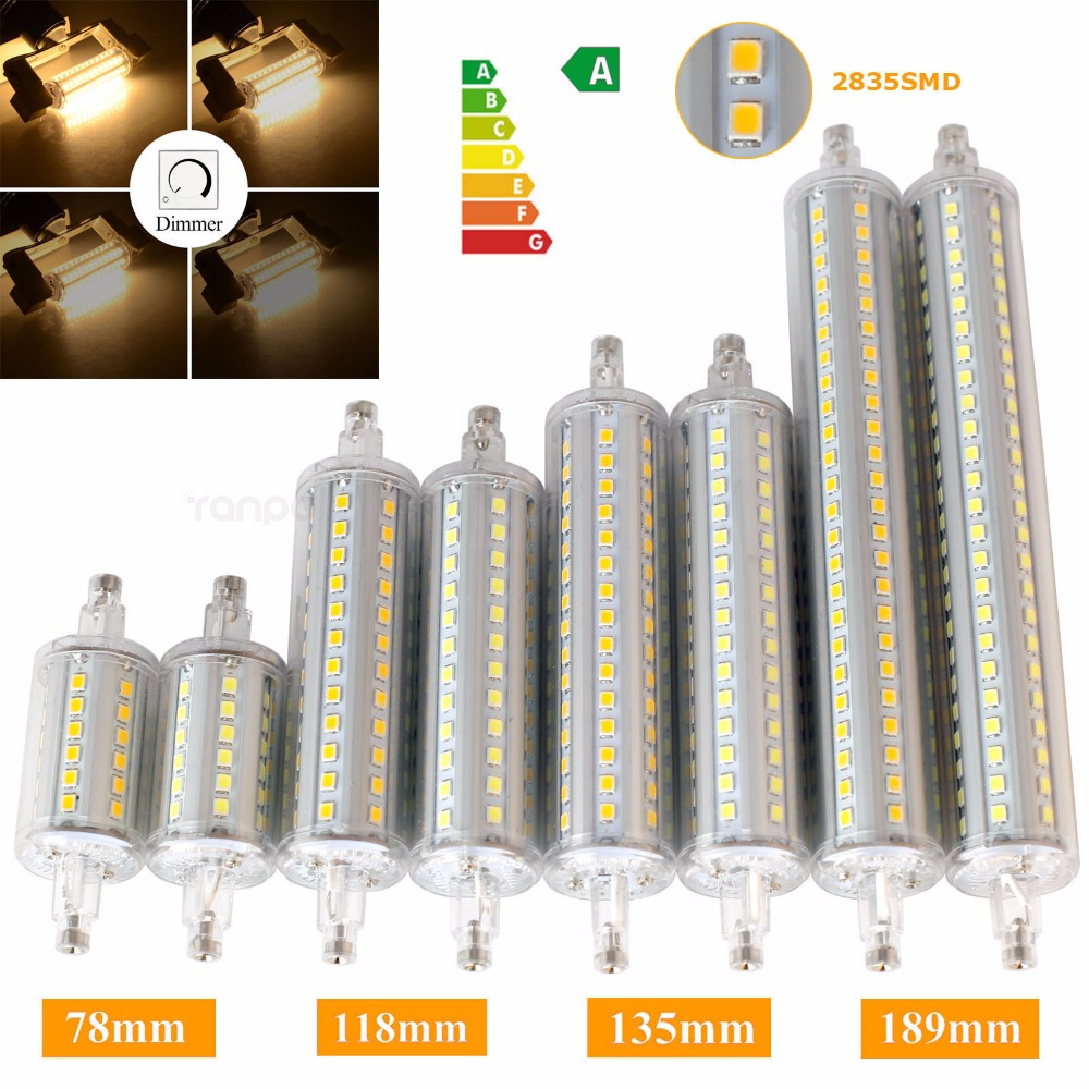 Dimmable R7S LED Flood Light J78 J118 J135 J189 LED Corn Bulb Light Bulbs 78mm 118mm 135mm 189mm Energy Saving Lights for Home high power dimmable 189mm led r7s light 50w cob r7s led lamp with cooling fan replace 500w halogen lamp