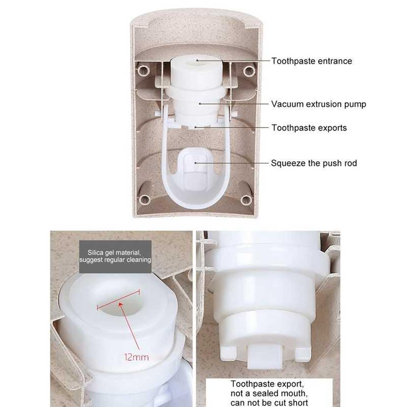 Подставка для настенного монтажа Автоматический Диспенсер зубной пасты, для зубной щетки держатель пыленепроницаемый Аксессуары для ванной комнаты Набор Комплект для зубной пасты