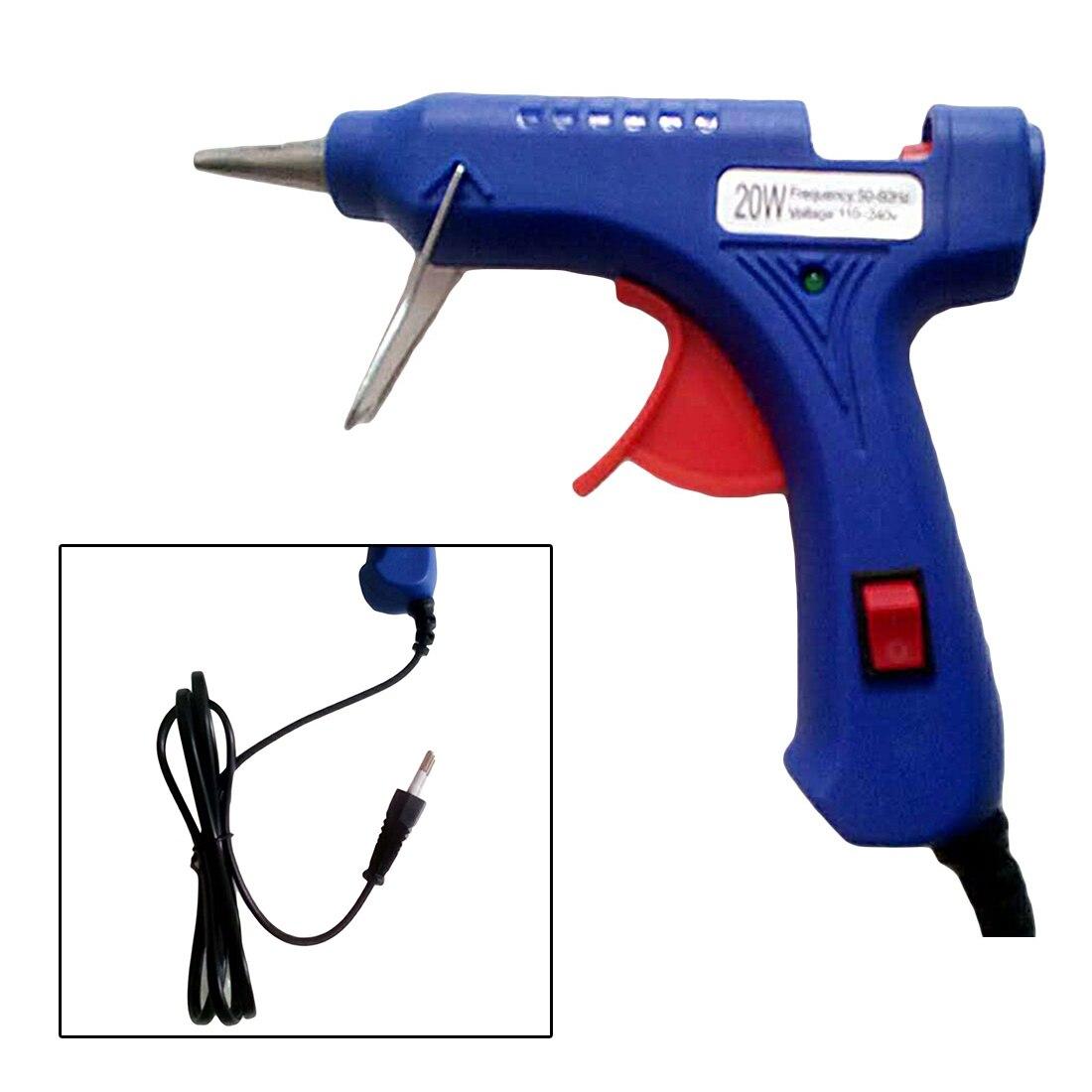 20 Вт ЕС синий расплава клеевой пистолет промышленные мини пистолеты термо Электрический тепла температура инструмент