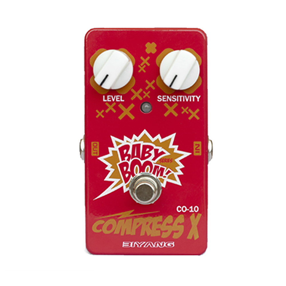 Biyang Compress X Guitar Effect Pedal Ereate Balanced Effect Effects Stompbox for Electric Guitar and Bass Baby Boom CO-10 mooer ensemble queen bass chorus effect pedal mini guitar effects true bypass with free connector and footswitch topper