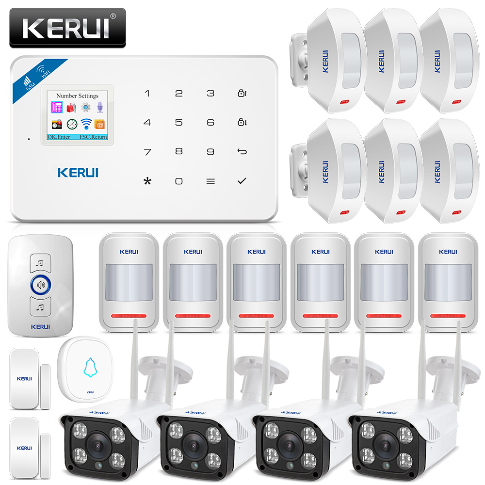KERUI W18 WIFI GSM Security Alarm System-in Alarm System Kits from Security & Protection    1