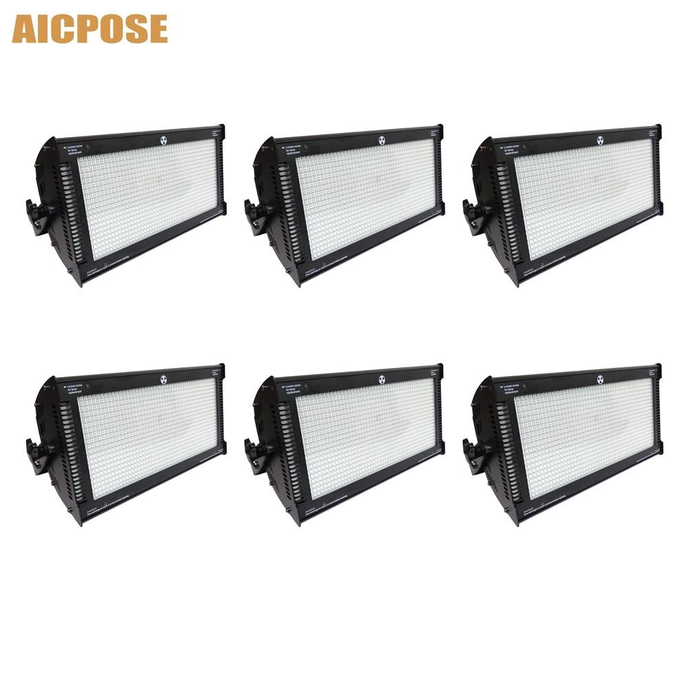 6Pcs/lots Atomic LED 1000W DMX Strobe Light Stroboscope Lights Fit Disco Bar DJ Effect 1000w Strobe Light Stage Flash Equipment