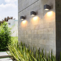 Modern Outdoor Staircase Aisle Waterproof Aluminum Wall Lamp Exterior Wall Light Garden Clothing Store Courtyard Wall Sconce