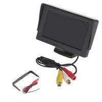 4.3 'TFT LCD A Colori Car Rearview Monitor Inverso Telecamera Backup DVD GPS Futural Digitale Trasporto di Goccia AUGG10