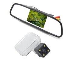 4.3 Дюймов Автомобиля Парковка Монитор с Ночного Видения Специальные Автомобиля Камера для Peugeot 206 207 307