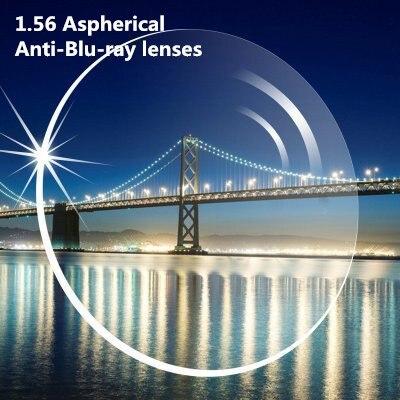 1,56 Anti Blue Ray Myopie Lesen Asp Einzigen Vision Optische Mit Linse Geschnitten Und Rahmen Fitting Service Computer Linsen
