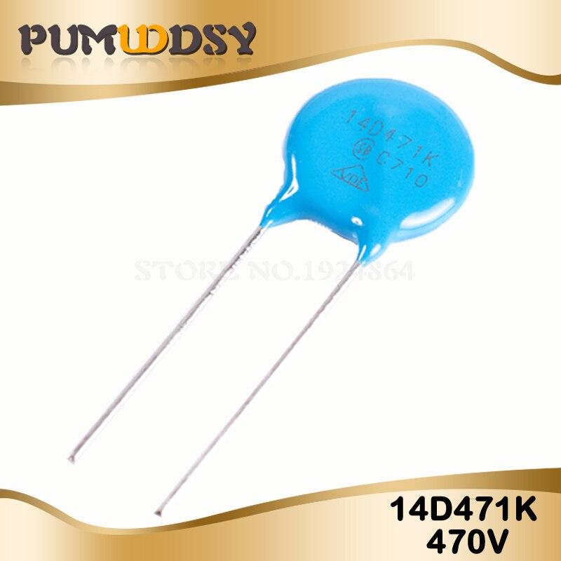 10pcs Varistor 14D471K 470V Piezoresistor 14D471
