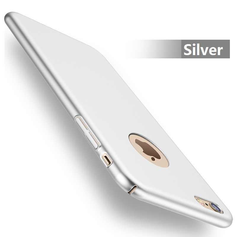 آيفون 7 Plus 6s 6 Plus 8 Plus X موضة الصلب ماتي حقيبة لهاتف أي فون 5s 5 SE XS MAX XR غطاء كامل البلاستيك غطاء الهاتف