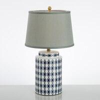 Керамика китайский стиль настольная лампа Творческое начало исследование гостиная мода высокого класса ткань прикроватная тумбочка для с