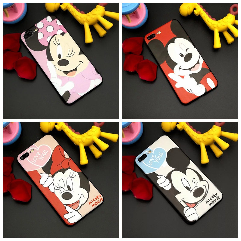 Cartoon cute Mickey Minnie Mouse pattern Phone Case for Huawei P10 plus for Huawei P10 case Silicone Case