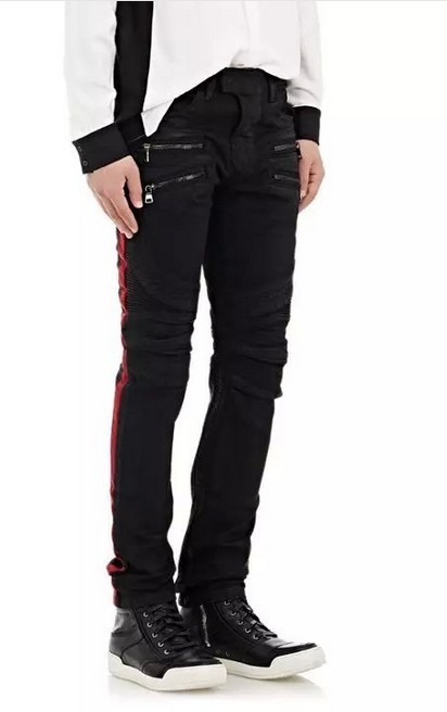 2016 new tooling multi zipper black stitching Metrosexual trade cowboy slim