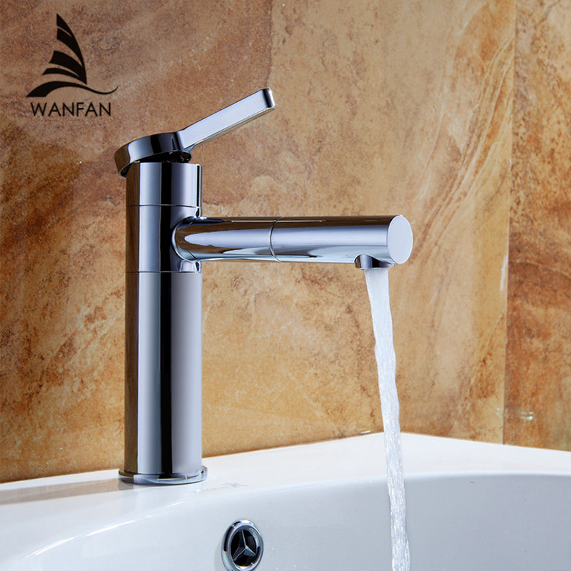 Great Quality Kitchen Sink 360 Degree Swivel Hot Cold Mixer Tap Chrome Polished Brass Basin Faucet