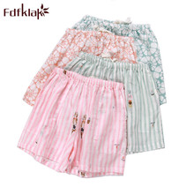 Fdfklak Womens Bottoms Pajamas Pants 2018 Summer New Print Cotton Slee