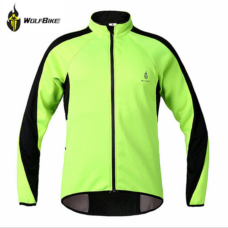 Jersey Winter Clothing Bicycle-Cycle-Wear Sports-Jacket WOLFBIKE Fleece Windproof Outdoor