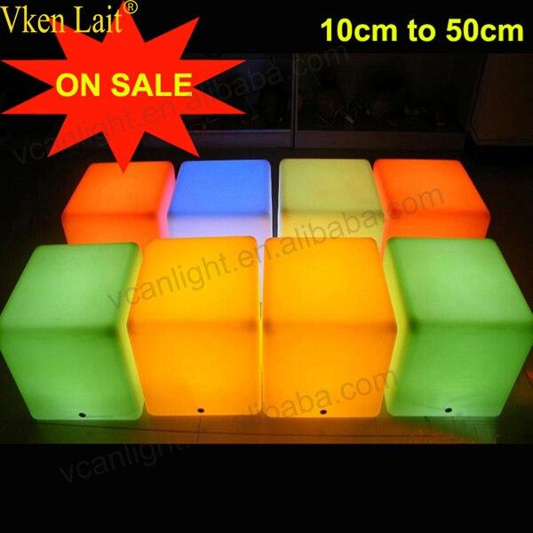 30*30 cm a mené le siège de chaise de cube led léger imperméable de jardin extérieur de meubles immulés - 4